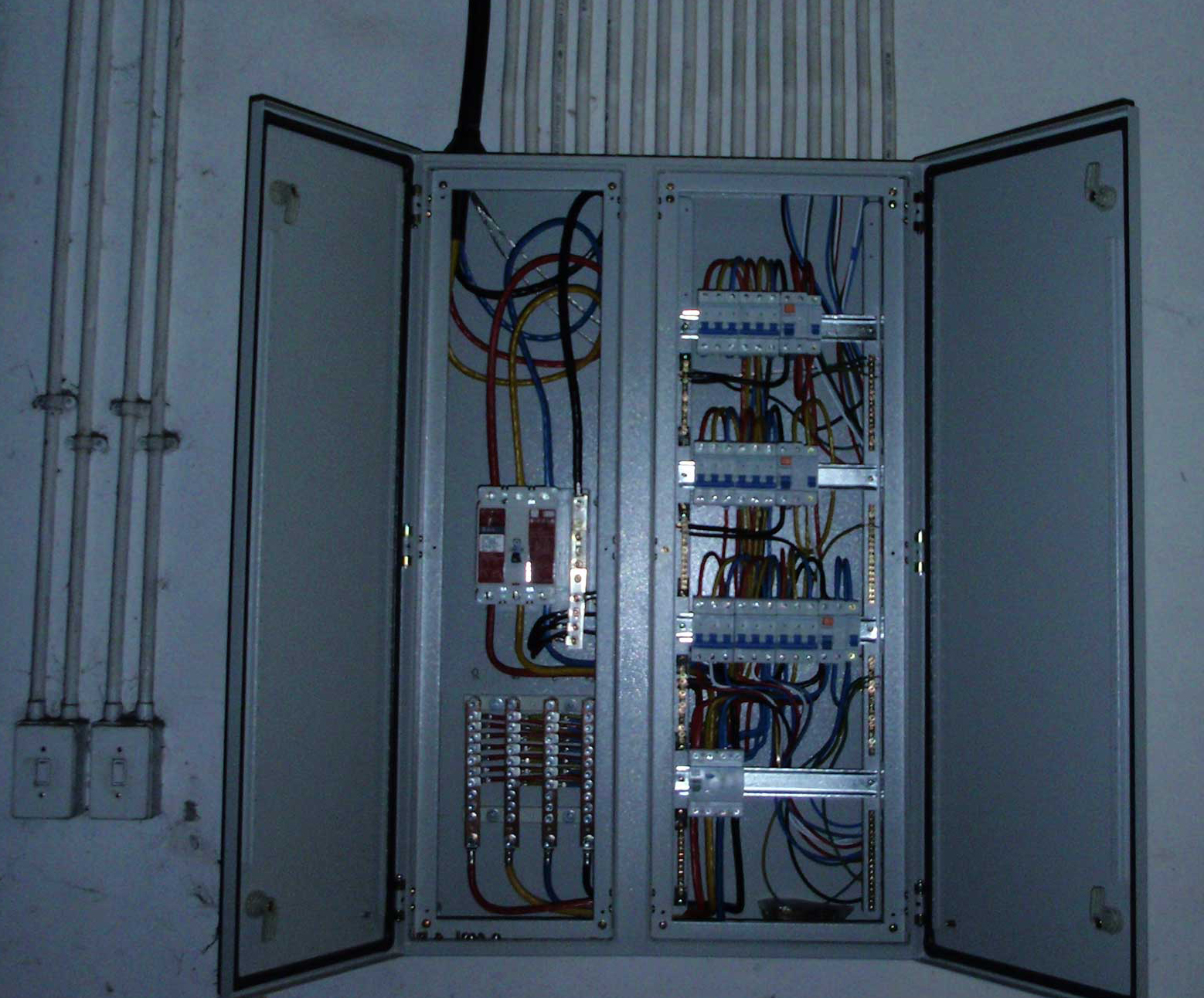 Electrical911 Gallery South African Distribution Board Wiring Mounted On Wall With Neat Cabling